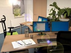 Rendering: Büroraum